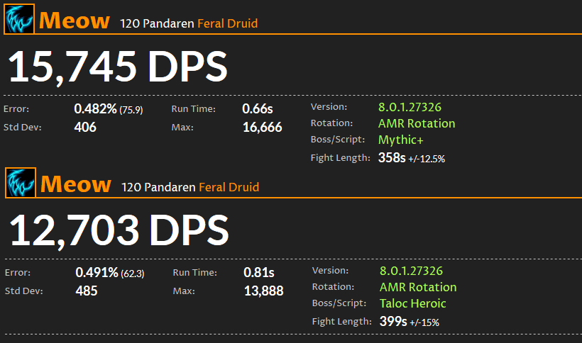 WoW DPS Ranking: Wildheit-Druide