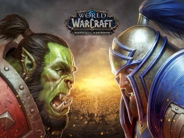 Wallpaper - Battle for Azeroth: Orc vs. Mensch