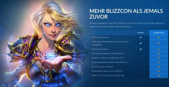 BlizzCon 2017: Virtuelles Ticket steht zum Kauf bereit