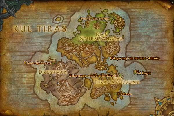 Dungeon Eingänge in Kul Tiras