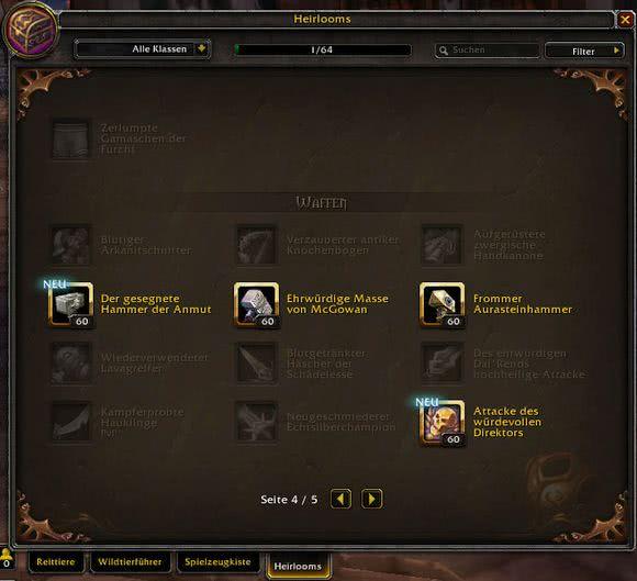 World of Warcraft - Erbstück-Updates werden mit Patch 8.1.5 billiger
