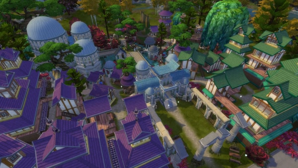 Darnassus in The Sims 4 nachgebaut