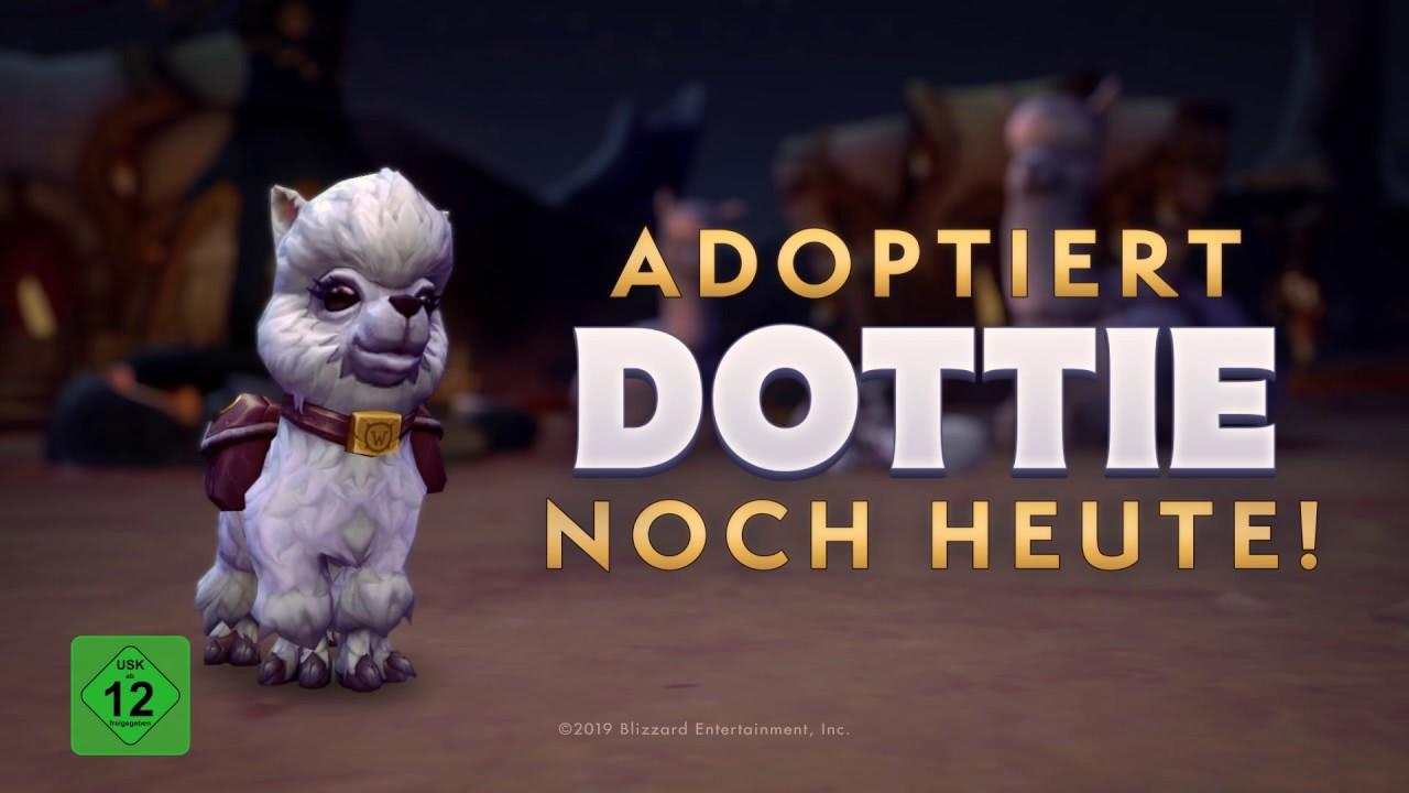 Das Wohltätigkeitshaustier Dottie ist nun im Blizzard Shop