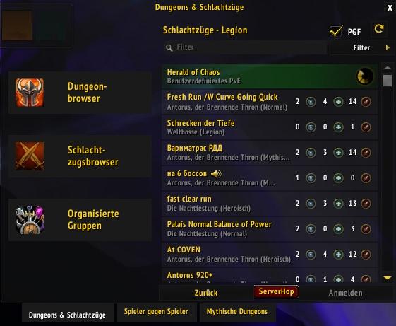 World of Warcraft - AddOns für vorgefertigte Gruppen funktionieren in BfA nicht mehr