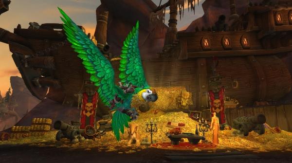 World of Warcraft - Haihappen als Papageien Reittier gibt es in Freihafen als Beute