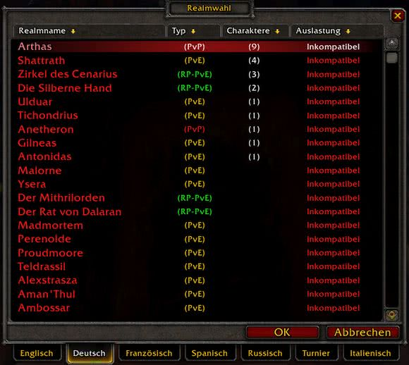 World of Warcraft - Inkompatible Realms in Battle for Azeroth