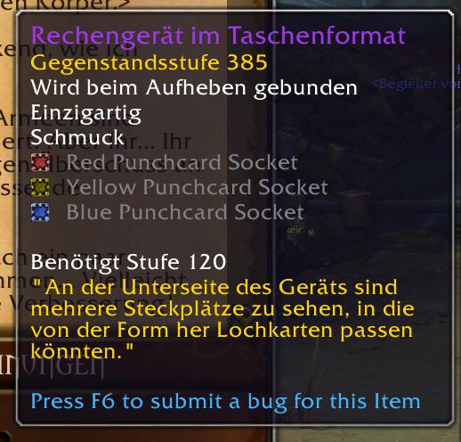 World of Warcraft - Alle Lochkarten für das Rechengerät im Taschenformat im Überblick