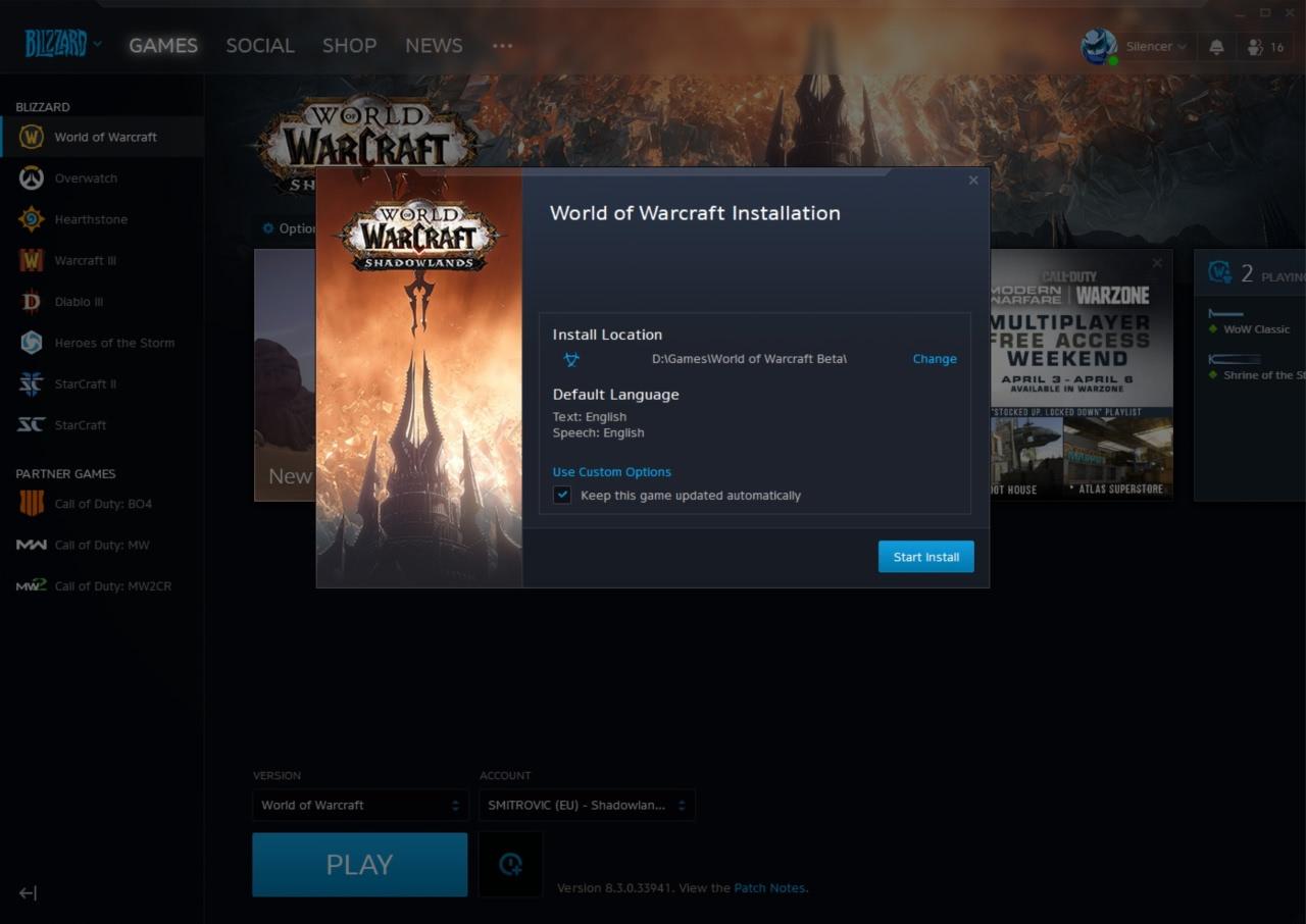 Startet die World of Warcraft: Shadowlands Alpha nächste Woche?