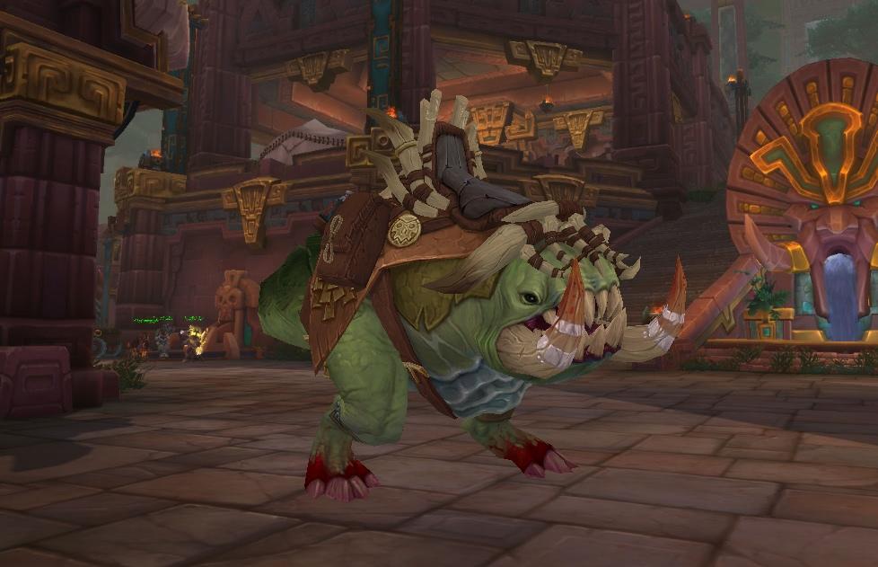 World of Warcraft - Reittier Tiefenpfuhl Krogg als Beute im Dungeon Tiefenpfuhl