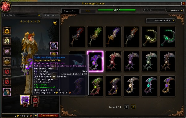 World of Warcraft - Offizielle Erklärung zu Transmogregeln für Artefaktwaffen