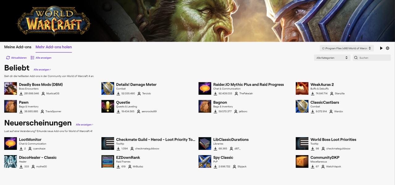 Twitch hat CurseForge an Overwolf verkauft: Neuer WoW Addon-Client kommt