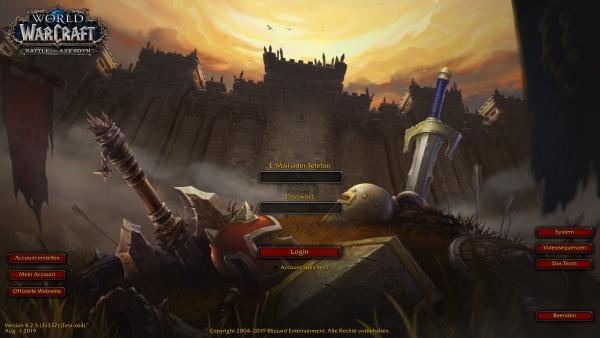 World of Warcraft Login mit Telefonnummer