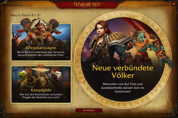 World of Warcraft - Patchnotes zu Patch 8.1.5