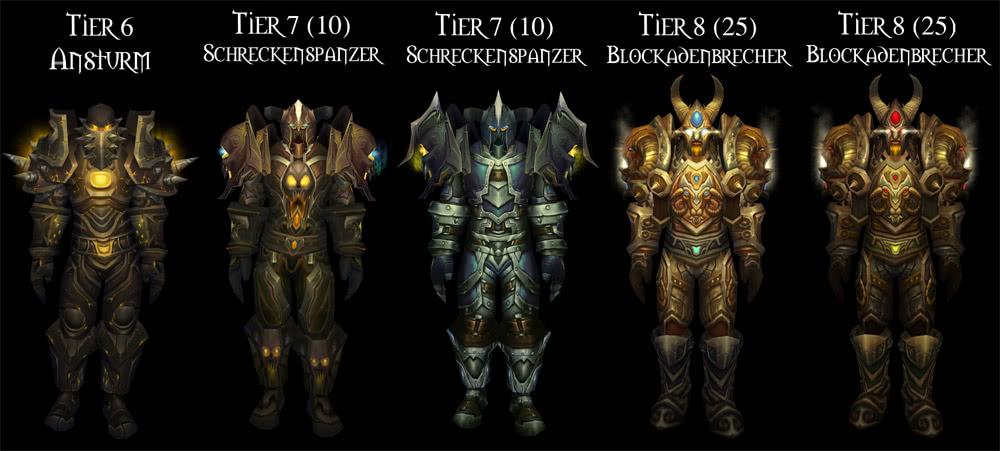 Krieger Tier 1 Bis Tier 13 Sets Im überblick