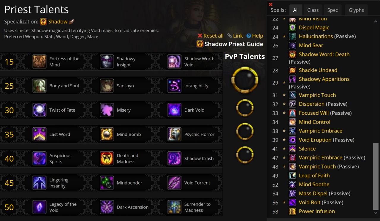 Freischaltung der Talente und Fähigkeiten beim Leveln in WoW Shadowlands