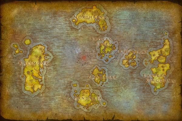 World of Warcraft - Karten der Gebiete in Kul Tiras und Zandalar im Überblick