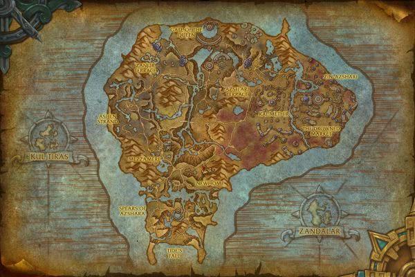 Karte wow leylinien Dar Vattish